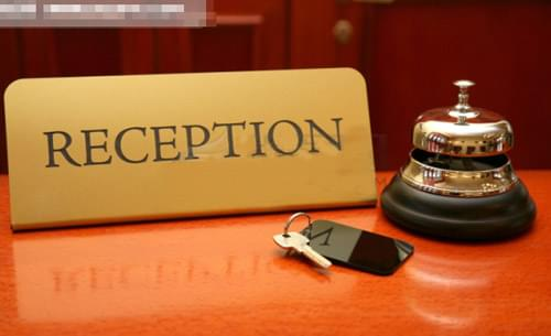 Reception in a hotel